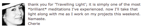 Travelling Light Testimonial