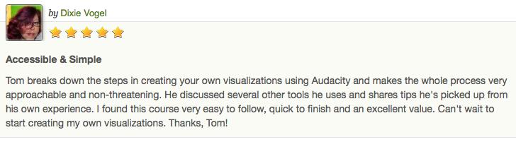 Creating Visualisations Testimonial