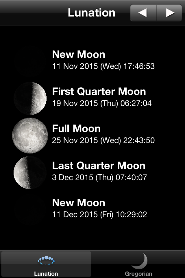 November Moon Phases