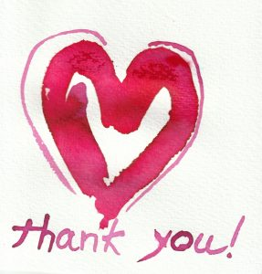Thank you from the heart