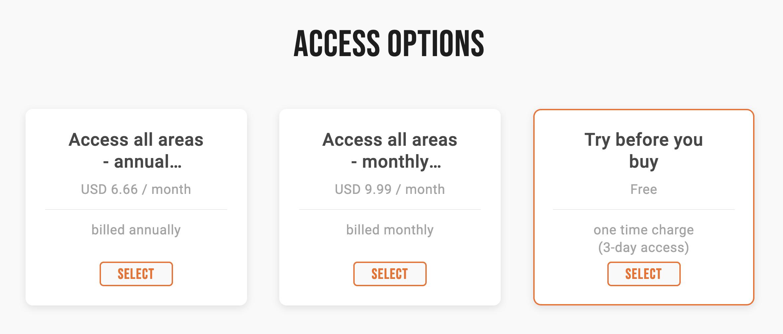 Soundwise Access Options