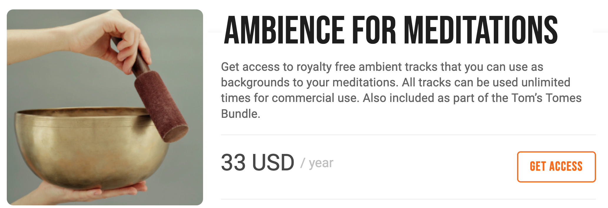 Royalty-free ambience for meditations